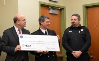 Paxton Fire Department Staff - Accepting Giant Check