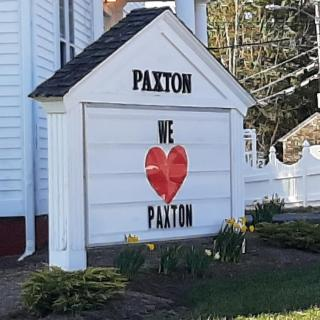 We Love Paxton Sign