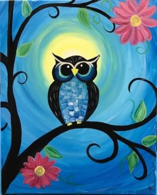 paint night of an owl
